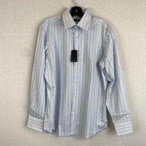 HUGO BOSS Stripe Blue Shirt NWT